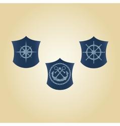 Set maritime symbols vector