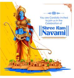 Shree ram navami celebration background for vector