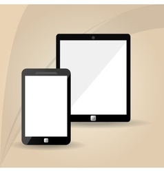 Smartphone and tablet icon design vector image