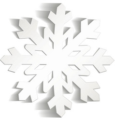 Snowflakes cut from paper Christmas icon Isolated vector