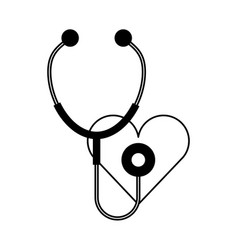 stethoscope medical with heart vector image