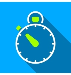Stopwatch Flat Long Shadow Square Icon vector