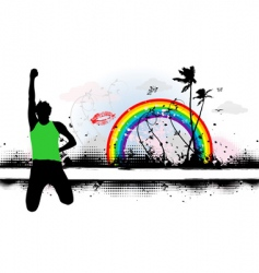 summer dreams illustration vector image vector image