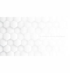 Tech 3d hexagon blocks white background vector