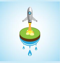 Technology business start up soar rocket vector