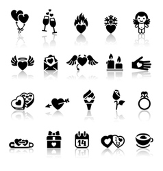 Valentines day icons vector