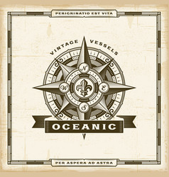 vintage oceanic label vector image