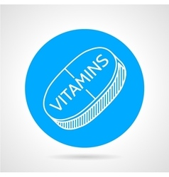 Vitamin supplements round icon vector image