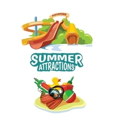 Water hills on playground vector