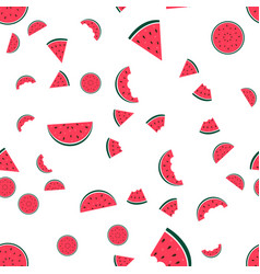 watermelon icon collection on white background vector image