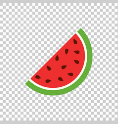 watermelon icon juicy ripe fruit on isolated vector image
