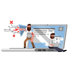 Web security and protection vector