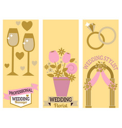 Wedding event manager agency brochure vintage vector