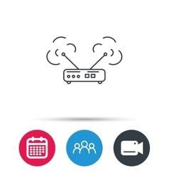Wi-fi router icon Wifi wireless internet sign vector