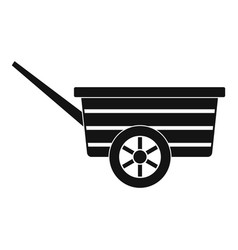 wood wheelbarrow icon simple style vector image