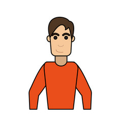 Young man with smirk icon image vector