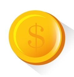 golden coin money business vector image
