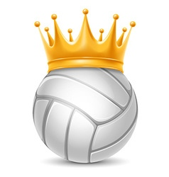Volleyball ball in crown vector image