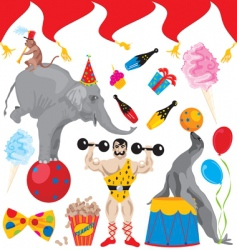 birthday circus acts vector image vector image