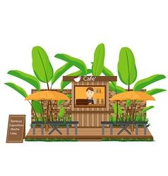 Coffee Shop outdoor vector image