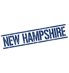 New hampshire blue square stamp vector