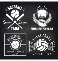 Set of sport banners on chalkbpard vector image