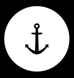 anchor for boat simple black isolated icon eps10 vector image vector image