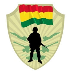 Army of Bolivia vector image vector image