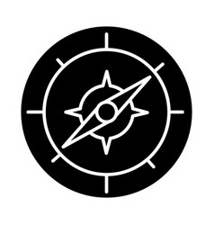 compass icon black sign on vector image