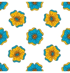 Floral seamless pattern with doodle elements vector image
