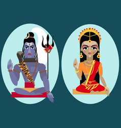 lord shiva and mata parvati vector image