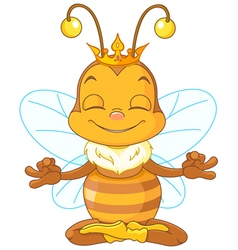 Meditating Queen Bee vector image vector image