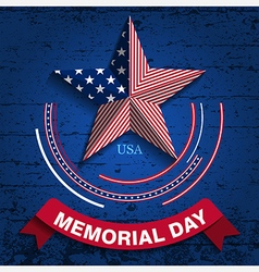 memorial day star vector image vector image