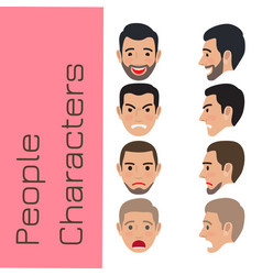 people emotions generator flat vector image vector image