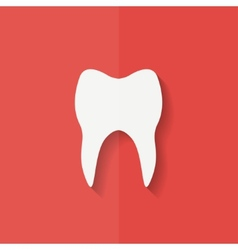Tooth web icon Flat design vector image