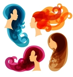 Women concept silhouettes for beauty or vector image