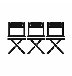 Chairs icon simple style vector image