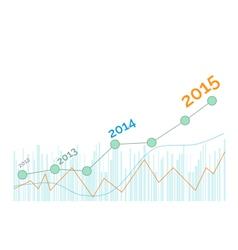 Grow up graph 2015 year vector