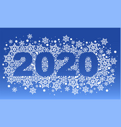 2020 new year blue background pattern of vector image