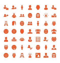 49 avatar icons vector image