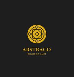 abstract ornament geometric logo icon symbol line vector image