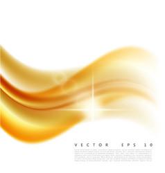An abstract orange wavy vector
