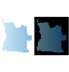 Angola map hex-tile mosaic vector