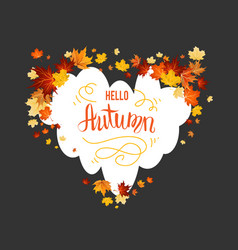 autumn maple leaves card vector image