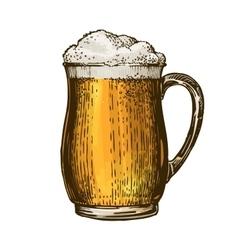 Beer ale lager Element of menu restaurant or vector