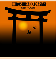 Bird paper crane bird paper craft for hiroshima vector