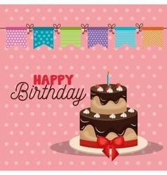 birthday cake dessert vector image