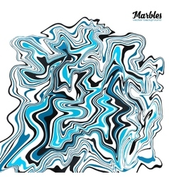 Black white and blue marble style abstract vector