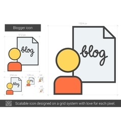 Blogger line icon vector