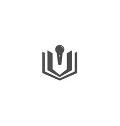 Book education logo design template vector
